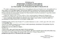 Ogłoszenie w sprawie niszczenia dróg publicznych
