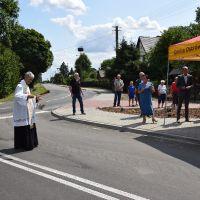 Otwarcie skrzyżowania drogi gminnej z drogą wojewódzką w  Kolechowicach Folwark